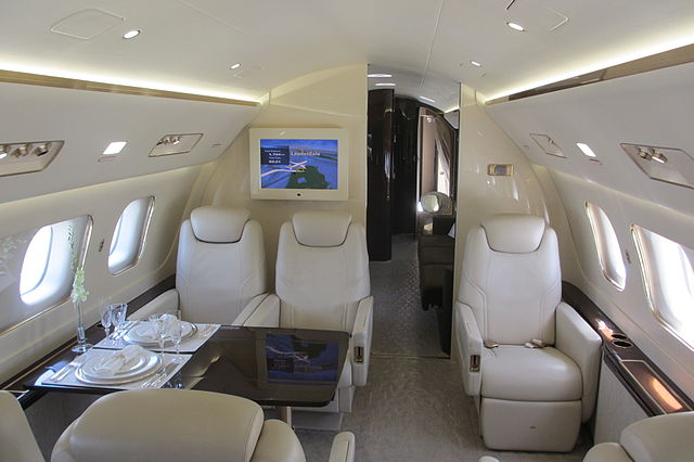 fly: in a private jet