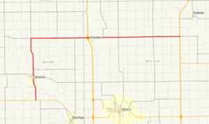 Iowa Highway 188 - Image: Iowa 188 map