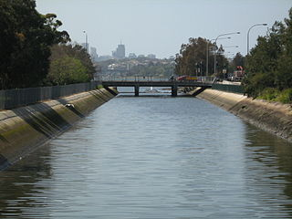 Iron Cove Creek river in New South Wales, Australia