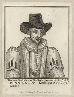 Isaac Penington (Lord Mayor) English politician, Lord Mayor of London in 1642