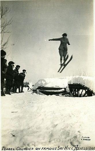 Canadian Ski Museum - Image: Isabel Coursier at Big Hill