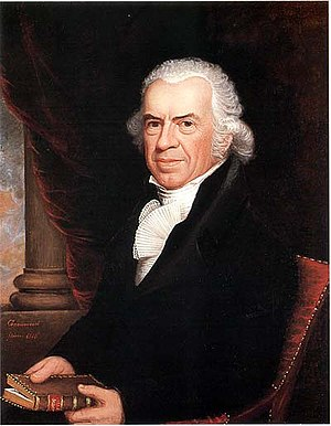 Isaiah Thomas (publisher) - Oil on canvas by Ethan Allen Greenwood in 1818 (American Antiquarian Society)