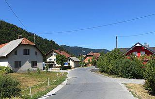 Iška Vas Village in Inner Carniola, Slovenia