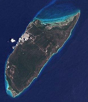 Satellite image of Cozumel Island in 2001