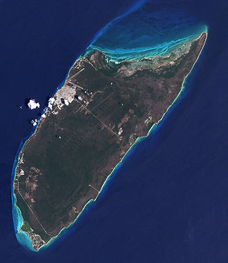 Cozumel - Satellite image of Cozumel Island in 2001