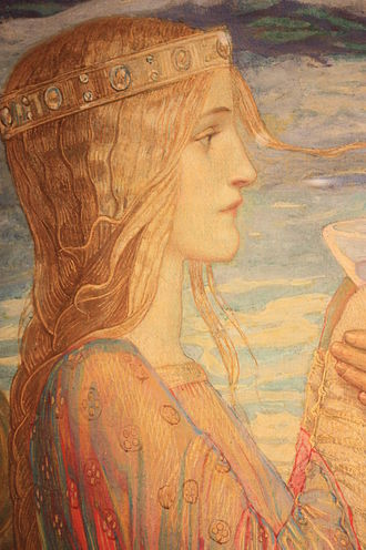 "John Duncan (painter) - Isolde (detail from ""Tristan and Isolde"") by John Duncan, 1912"