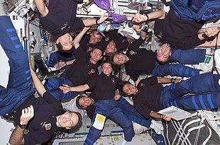 Équipage internationale dans le cadre de la mission STS-111.