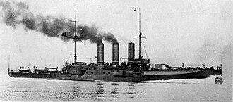 Regina Elena-class battleship - Image: Italian battleship Regina Elena 17 May 1907