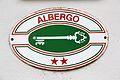 Italy Albergo two stars plaque 01.JPG
