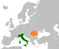 Italy Romania Locator.png