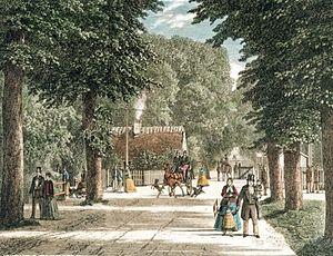 Jægersborg Allé - Jægersborg Allé in the first half of the 19th century