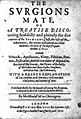 """J. Woodall """"The surgeons mate"""", 1617, title page Wellcome L0012464.jpg"""