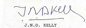 John Norman Davidson Kelly - His signature