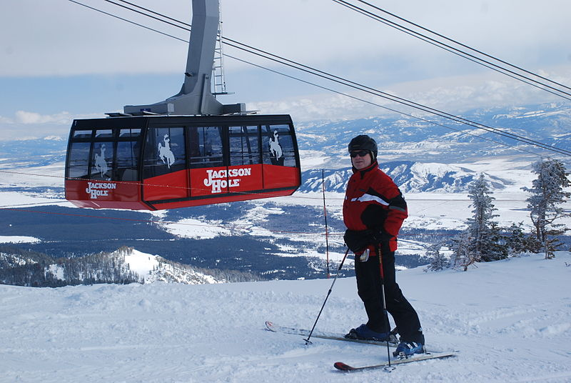 New tram at summit in 2010