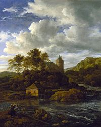 Jacob van Ruisdael - Castle and Watermill by a River.jpg