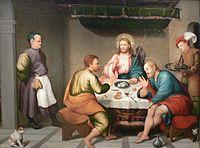 Jacopo da Ponte (Bassano) Supper at Emmaus Kimbell.jpg