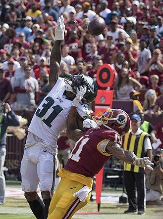 Jalen Mills - Mills deflecting pass vs Redskins week 1, 2017