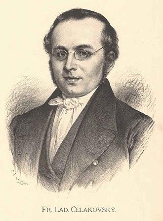 Czech National Revival - Image: Jan Vilímek František Ladislav Čelakovský