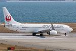 Japan Air Lines ,JL897 ,Boeing 737-846 ,JA315J ,Departed to Shanghai ,Kansai Airport (16810258205).jpg