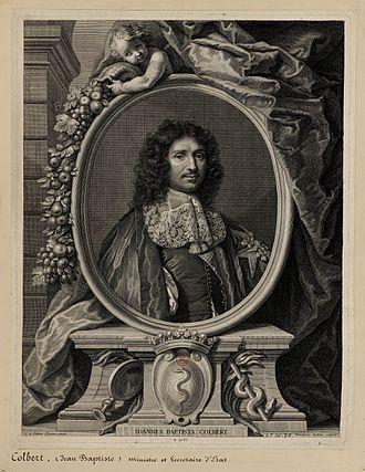 Benoît Audran the Elder - Portrait of Jean-Baptiste Colbert (1619-1683) by Benoît Audran the Elder, Palace of Versailles Research Centre, 1676