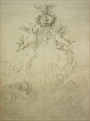 Design for the crown of an altar or for a baldachin