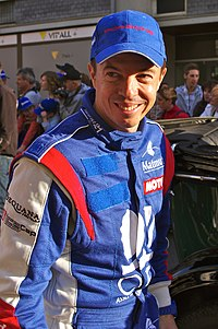 Jean-Philippe Beloc Le Mans drivers parade 2011.jpg