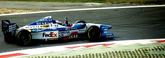 Benetton B197 - Jean Alesi driving the B197 at the 1997 Italian Grand Prix.