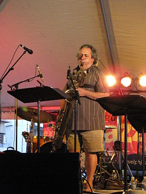 Jean Derome performing at the Guelph Jazz Festival