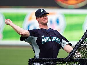 Jeff Datz - Datz pitching batting practice with the Mariners, 2012