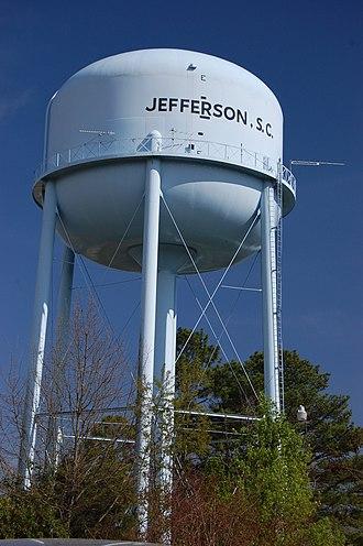 Jefferson, South Carolina - Water tower, 2011
