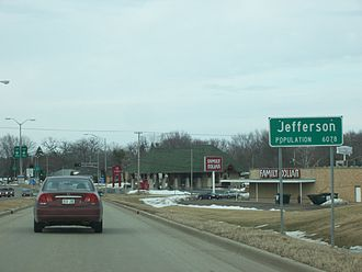 Jefferson, Wisconsin - Population sign