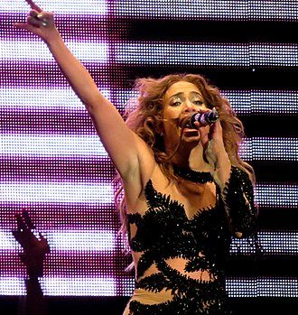 "Love? - Lopez performing ""On the Floor"" on her Dance Again World Tour in 2012."