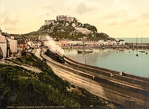 Jersey Eastern Railway - View of the railway at Gorey