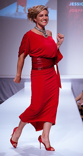 Jessica Steen - Steen at The Heart Truth celebrity fashion show in 2012