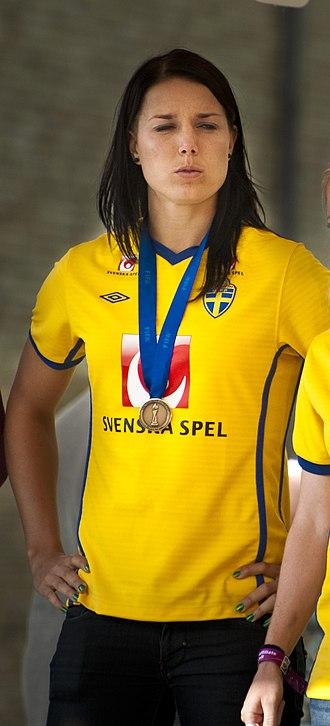 Jessica Landström - Landström with her World Cup bronze medal