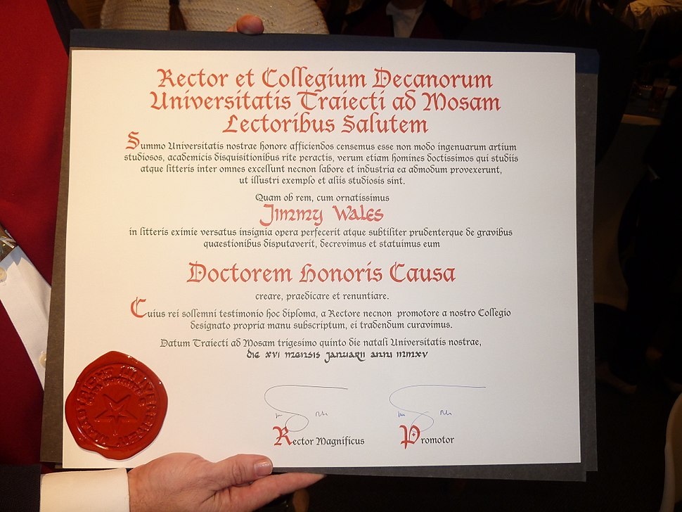 Jimmy Wales receives honorary doctorate from Maastricht University (5)