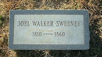 Appomattox Court House National Historical Park cemeteries - Image: Joel Walker Sweeney headstone derivative