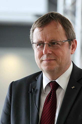 Director General of the European Space Agency - Image: Johann Dietrich Wörner, DLR Chairman, during the interview (7635809716)