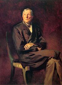 John D. Rockefeller's painting by John Singer Sargent in 1917