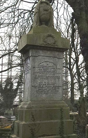 John William Fisher - Monument for John William Fisher at Kensal Green Cemetery