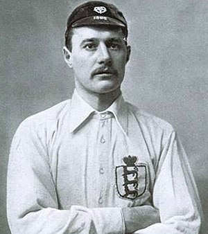 John Willie Sutcliffe - Sutcliffe in 1895 with England