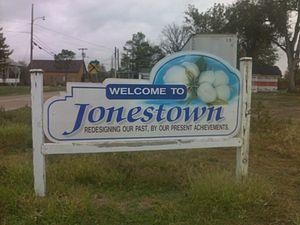 Jonestown, Coahoma County, Mississippi - Jonestown sign