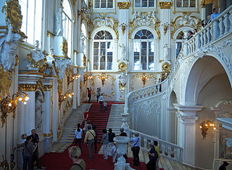 Jordan Staircase of the Winter Palace - Image: Jordantreppe Petersburg Eremitage 02