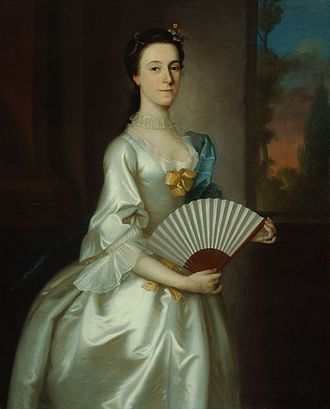 Joseph Blackburn (painter) - Abigail Chesebrough (Mrs. Alexander Grant), oil on canvas of 1754, in the Art Institute of Chicago