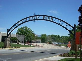Julia Davis Park - Sign above Julia Davis Park entrance