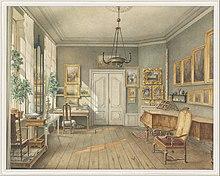 Fanny Hensel's music room in the Hensel house, Leipziger Str. 3, Berlin (Source: Wikimedia)
