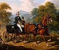 Juliusz Kossak - Przejażdżka powozem 1852.jpg