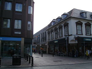 St Mary Street/High Street - At the junction of Church Street, High Street (left) and St. Mary Street (right)