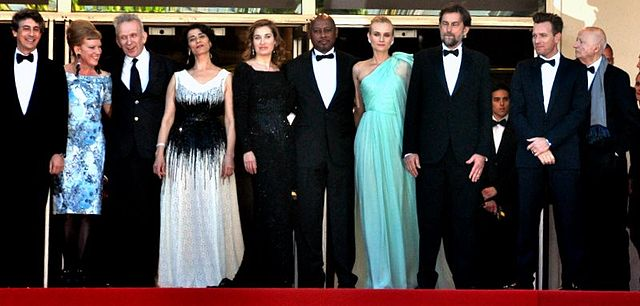 The main competition jury; from left to right: Alexander Payne, Andrea Arnold, Jean Paul Gaultier, Hiam Abbass, Emmanuelle Devos, Raoul Peck, Diane Kruger, Nanni Moretti, Ewan McGregor, and festival president Gilles Jacob Jury Cannes 2012.jpg
