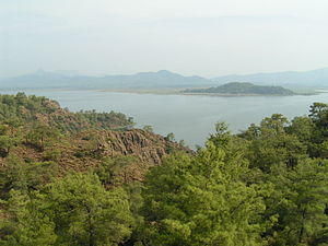 Köyceğiz - Köyceğiz Lake from the road to Ekincik.